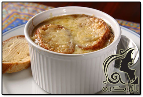 آموزش آشپزی و طرز تهیه سوپ پیاز