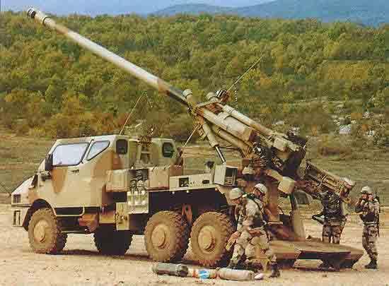 آشنایی با هویتزر قدرتمند 155mm CEASAER ساخت فرانسه !