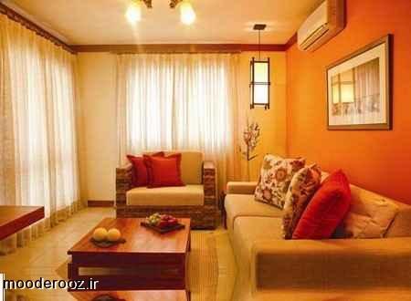 جدیدترین دکوراسیون نارنجی خانه