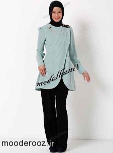 مدل زیبای مانتو با پوشش اسلامی