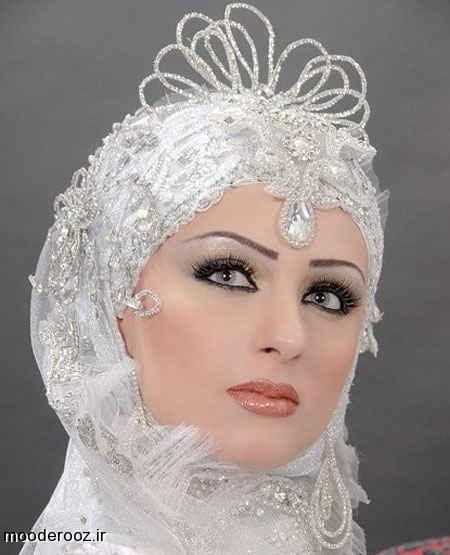 مدل جدید آرایش عروس محجبه