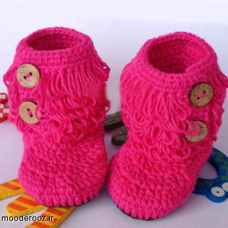 مدل کفش ها و جوراب های بافتنی کودکان 2014
