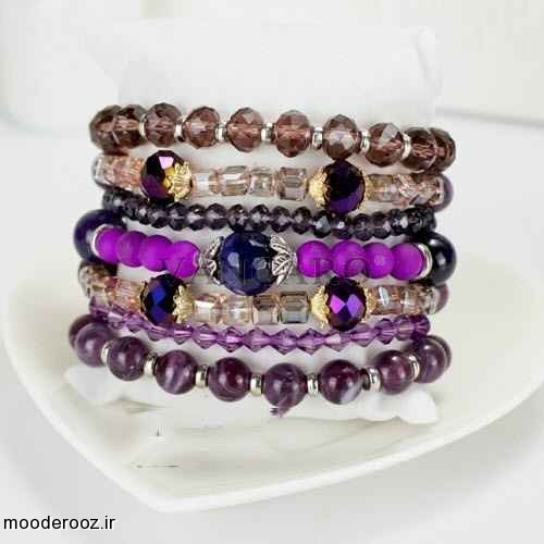 مدلهای دستبند چند لایه دخترانه