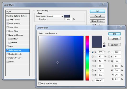 ایجاد رنگ بر روی layer