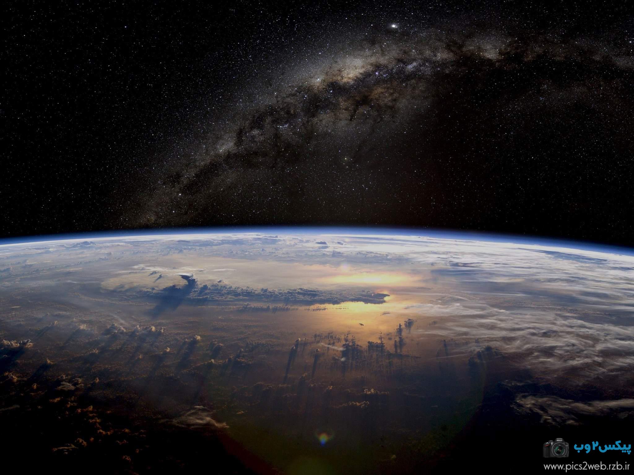 عکس زمین از نظر فضا