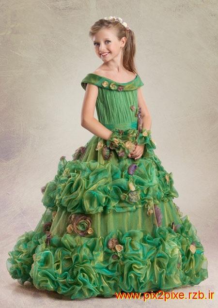 مدل های لباس مجلسی کودکانه