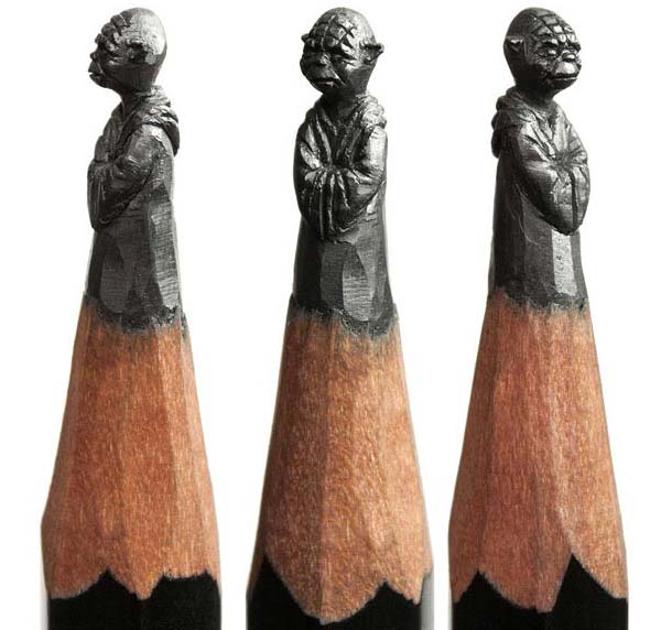 مجسمه هايي ساخته شده بر روي نوک مداد