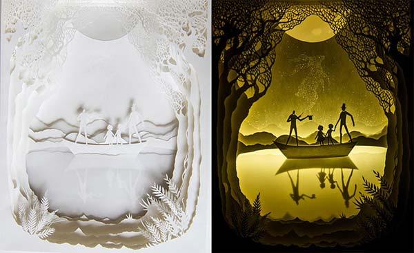 کارهاي هنري شگفت انگيز با کاغذ و لامپ