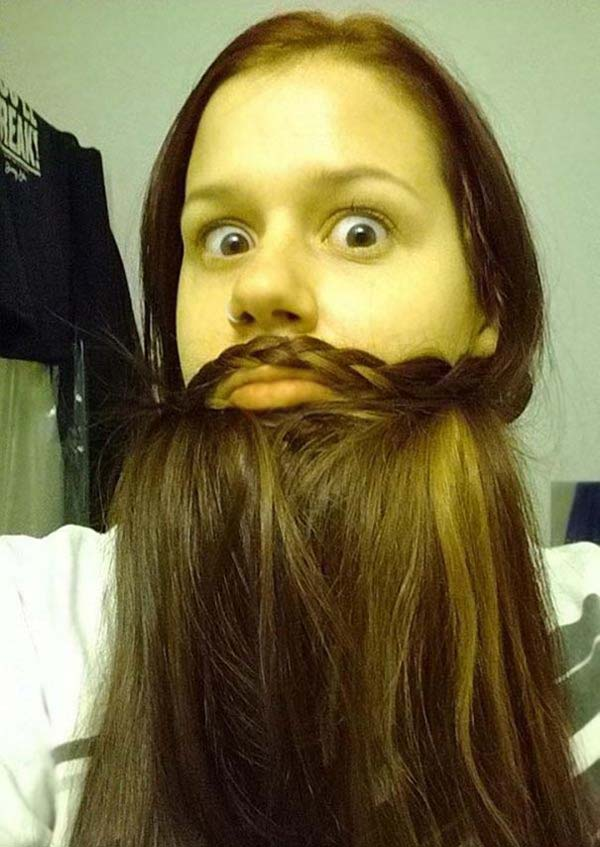 خلاقيت بامزه جالب دخترها با موهايشان