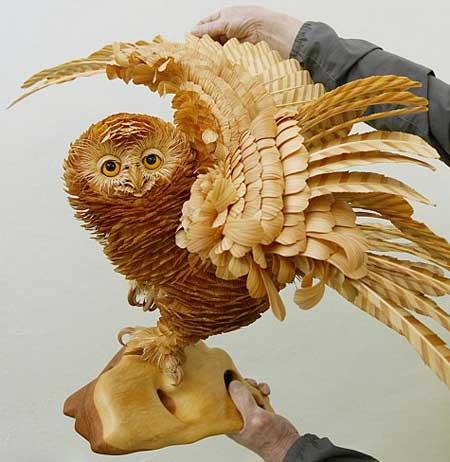 مجسمه های چوبی شگفت انگیز از حیوانات