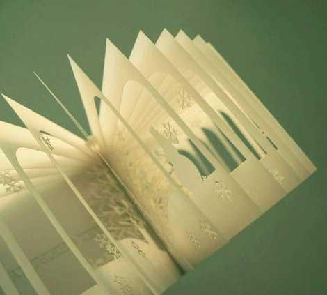 آثار هنري با استفاده از بريدن کاغذ