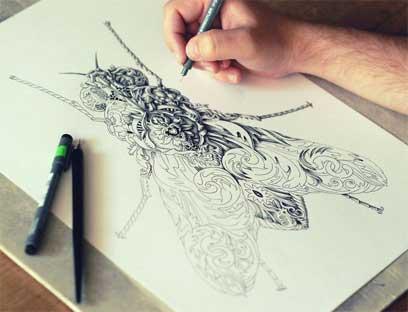 آثار هنري  با استفاده از خطوط