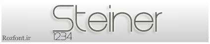 فونت لاتین Steiner