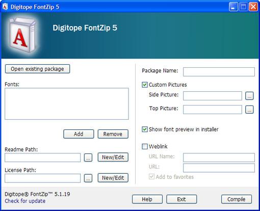 نرم افزار Digitope FontZip