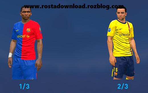 دانلود کیت کلاسیک بارسلونا فصل 2008 و 2009 برای pes 2016