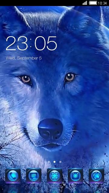 تم سی لانچر گرگ آبی