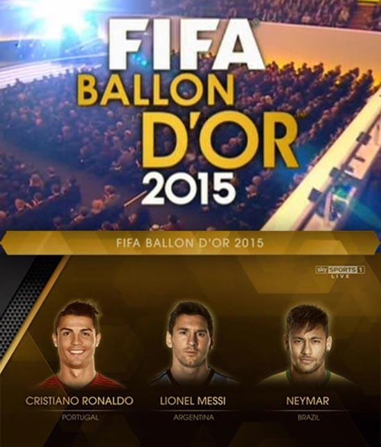 دانلود مراسم توپ طلای فیفا FIFA Ballon D'OR Award 2015