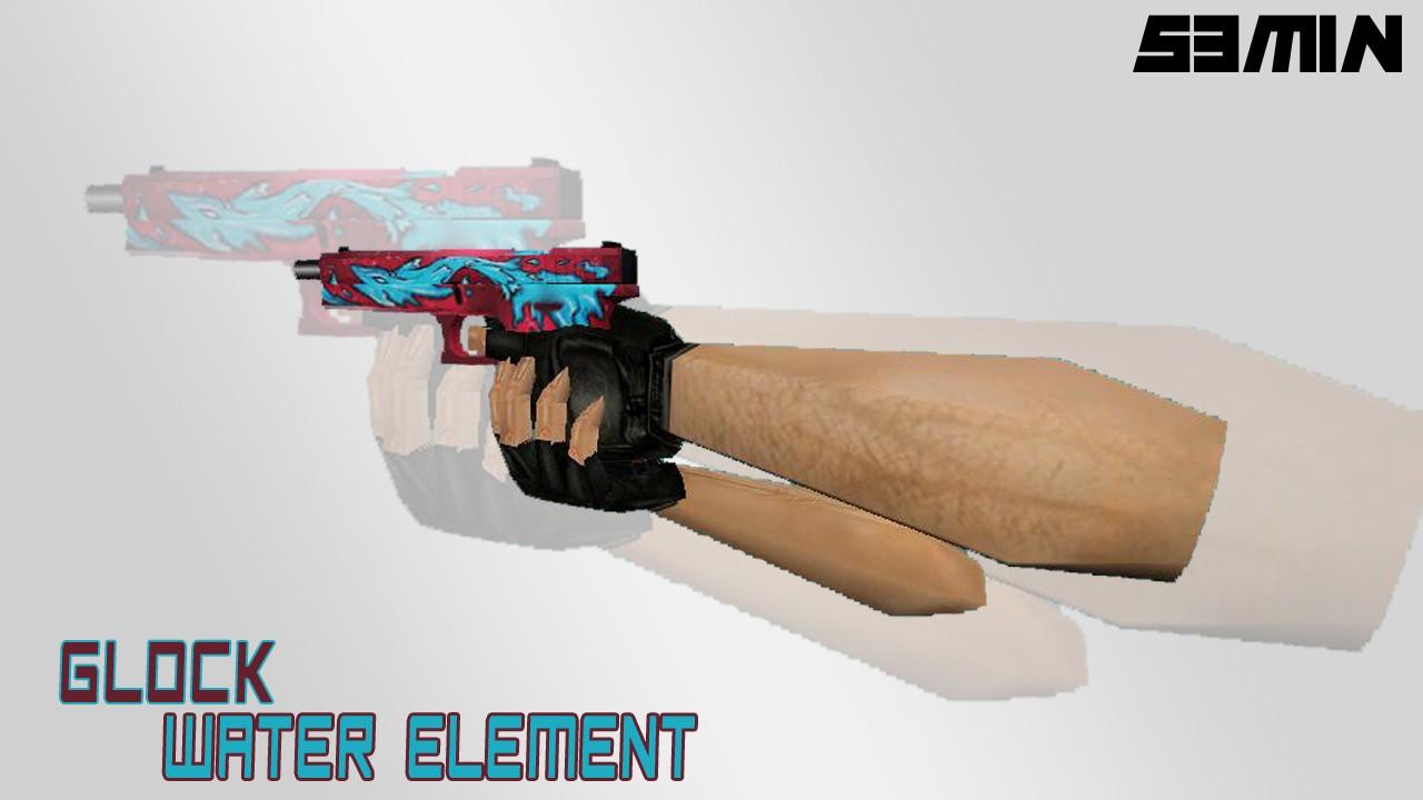 دانلود اسکین کلت glock18_water_element_by_s3m1n (کلت ترور)
