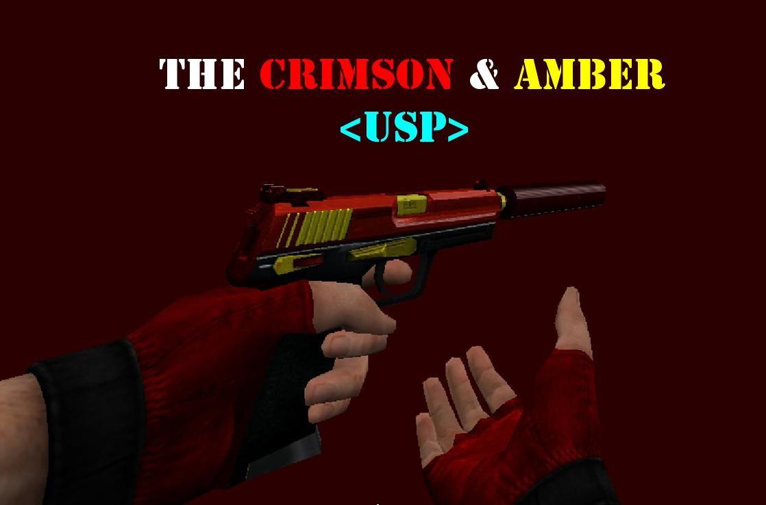دانلود اسکین قرمز برای usp کلت سیتی the_crimson_amber_usp
