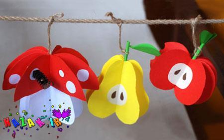 درست کردن کاردستی میوه های کاغذی