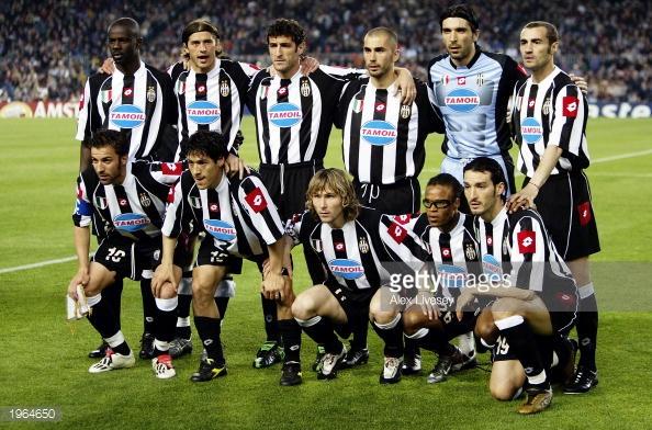 ترکیب کلاسیک تیم یوونتوس بین سال های 2001تا2004
