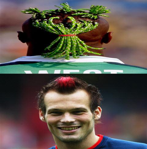 عکس های جالب از بازیکنان با موهای عجیب در فوتبال