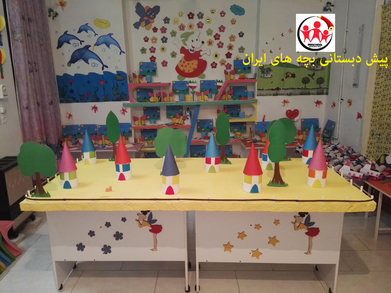 نمایشگاه کاردستی و خلاقیت کودکان و همچنین مسابقه (حلوا پزی)