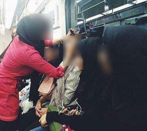 آرایشگاه زنانه در متروی تهران …! + عکس