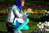 جشنواره لاله ها در پارک ملت مشهد + تصاویر