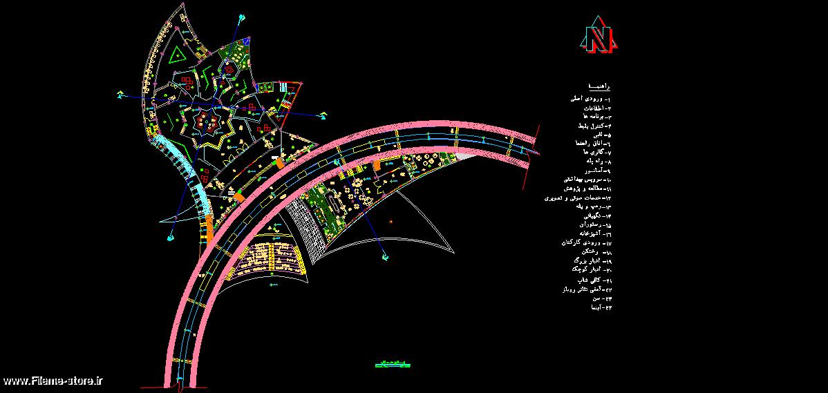 دانلود  نقشه های کامل اتوکد موزه / قابل ویرایش