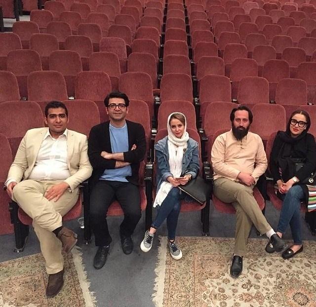 الناز حبیبی در تمرین تئاتر