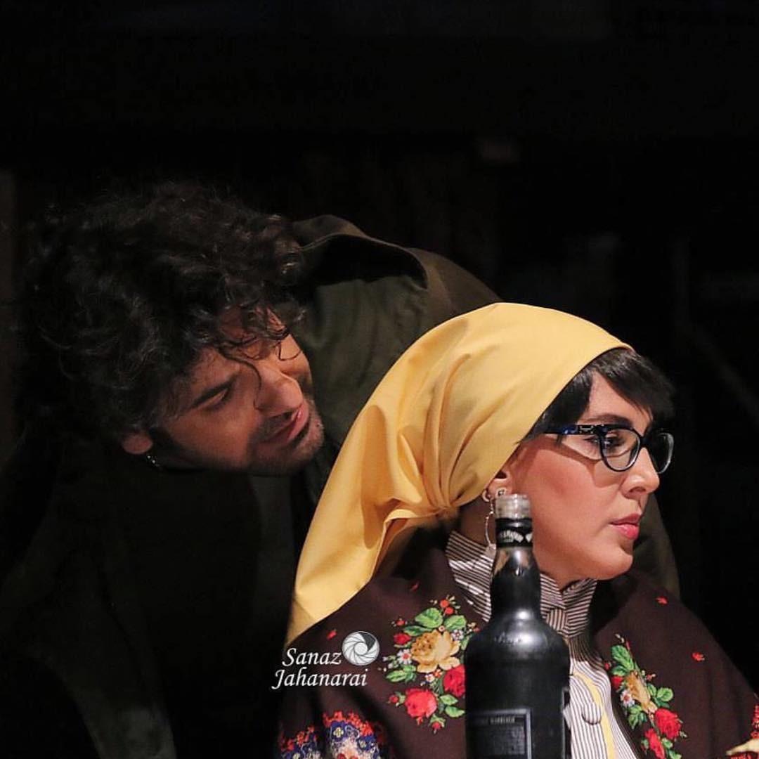 عکس لیلا بلوکات در نمایش شکار مرغابی