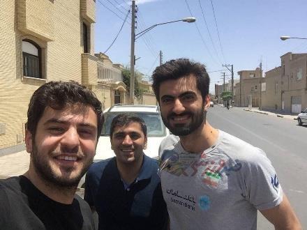 سلفی علی ضیاء و امیر غفور:تک عکس