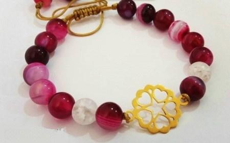 دستبند سنگ و طلا از برند ایرانی گل ترنچ