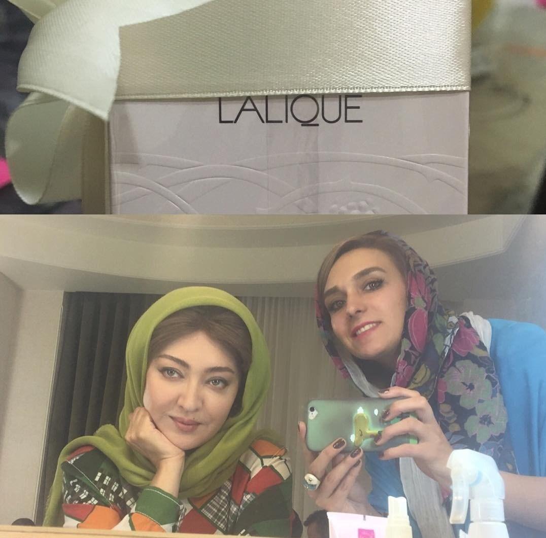عکس جدید نیکی کریمی در اتاق گریم سریال سرزمین کهن