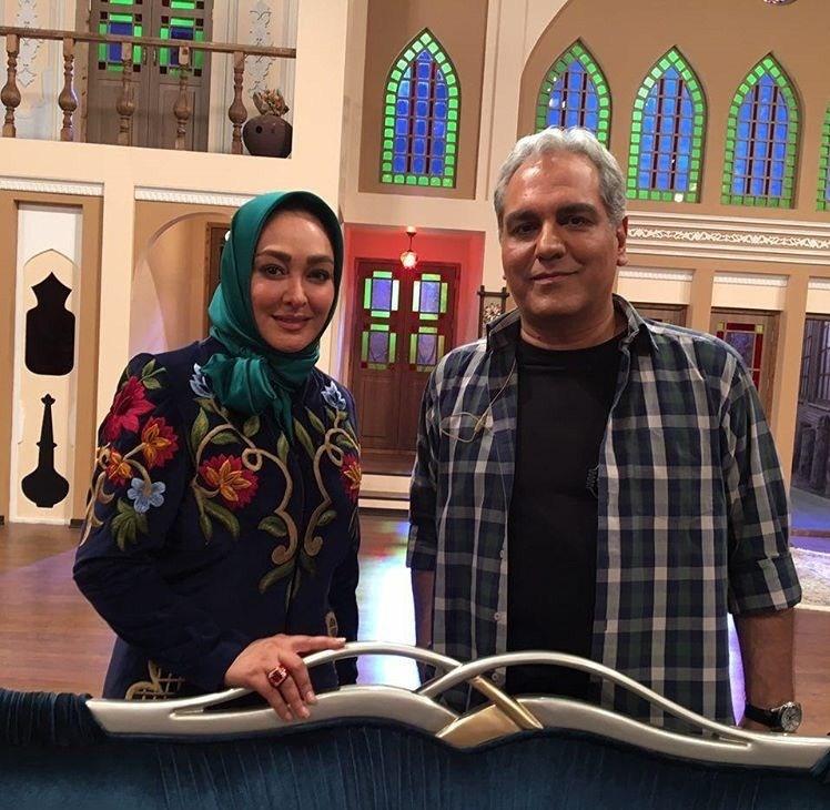 عکس مهران مدیری و الهام حمیدی