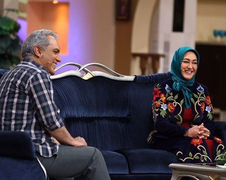الهام حمیدی و مهران مدیری در برنامه دورهمی