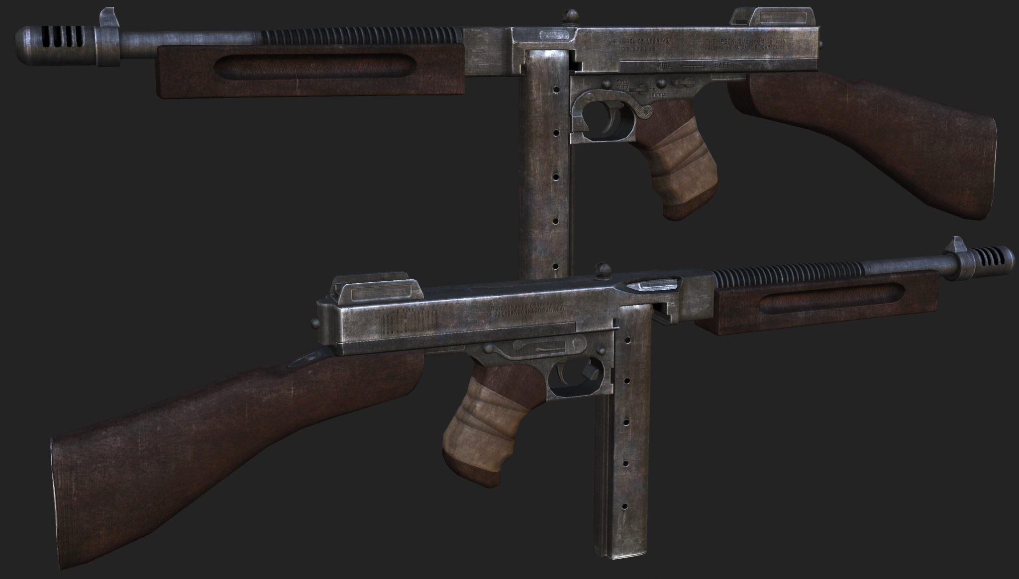 دانلود اسکین Ak47 | M1928A1 Thompson-COD برای کانتر سورس