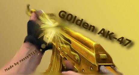 دانلود اسکین Ak47 | Default Gold برای کانتر سورس