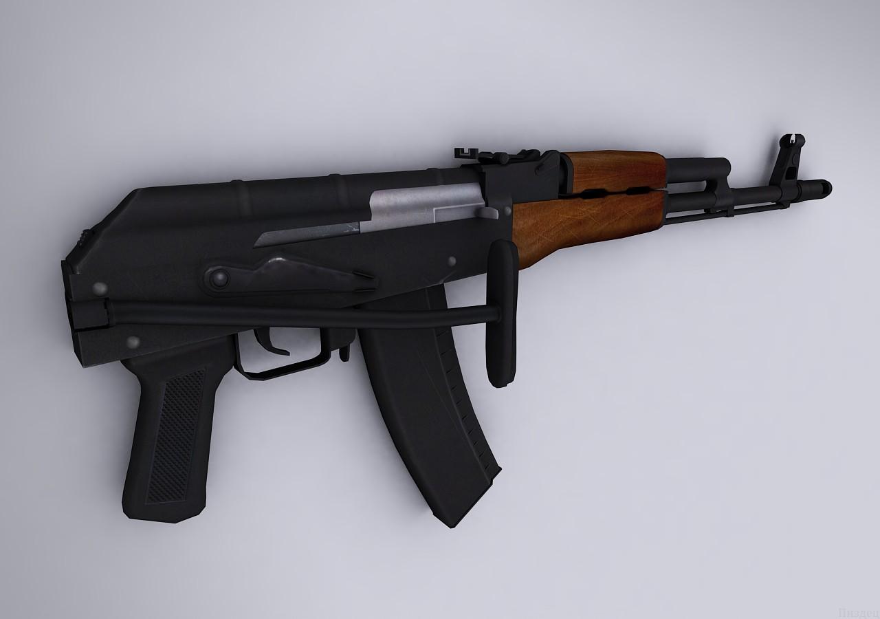 دانلود اسکین Ak47 | AKS-74 V2 برای کانتر سورس