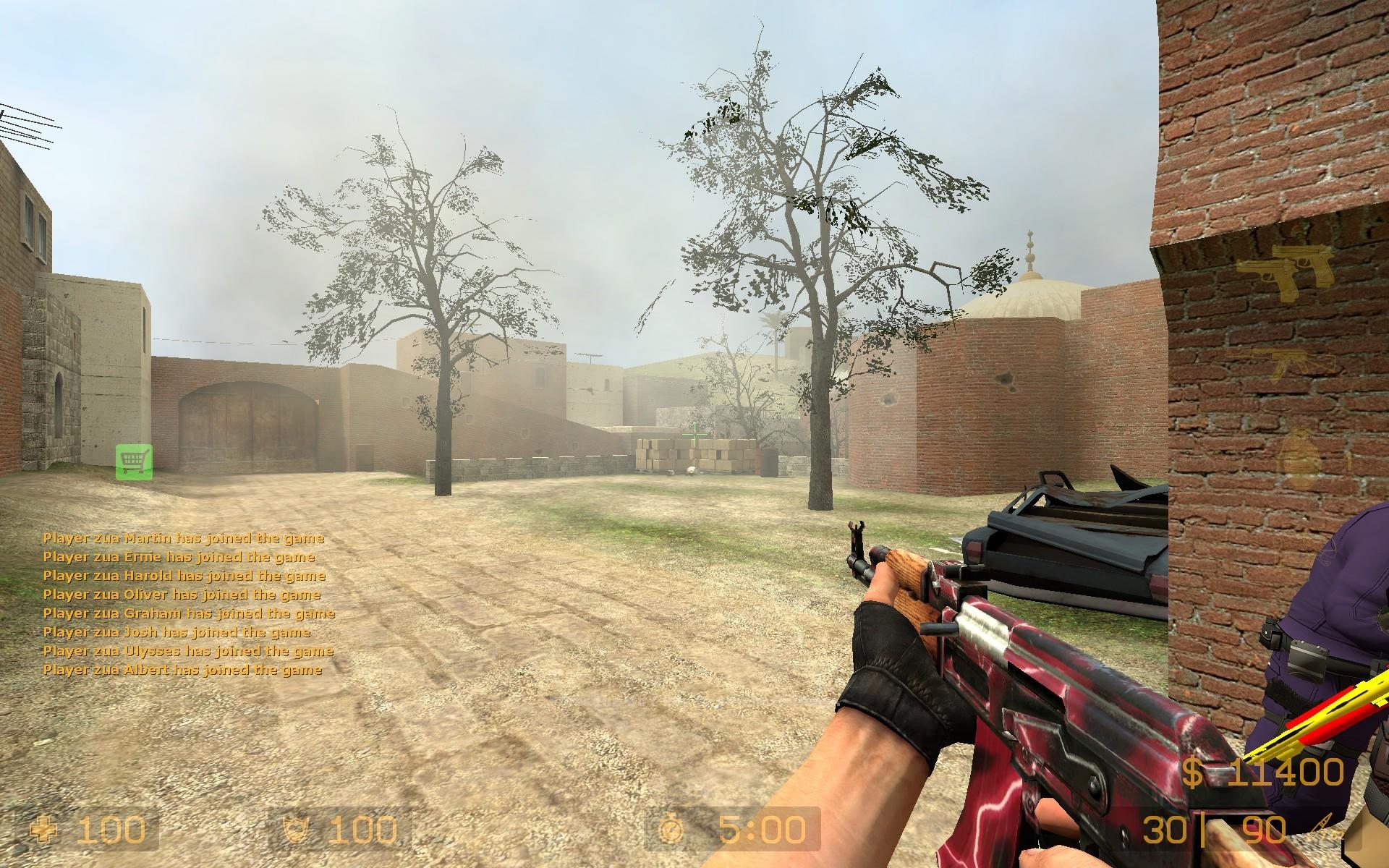 دانلود اسکین Ak47 | Red Lightning برای کانتر سورس