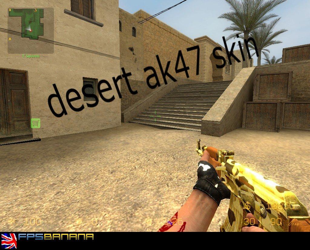 دانلود اسکین Ak47 | Desert Style برای کانتر سورس
