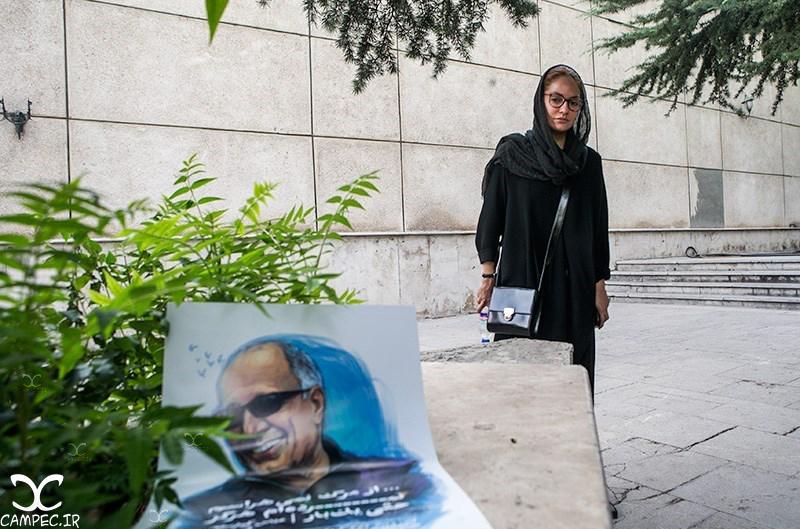عکسهای هنرمندان در مراسم یادبود عباس کیارستمی