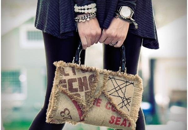 آموزش دوخت کیف دستی زنانه با گونی