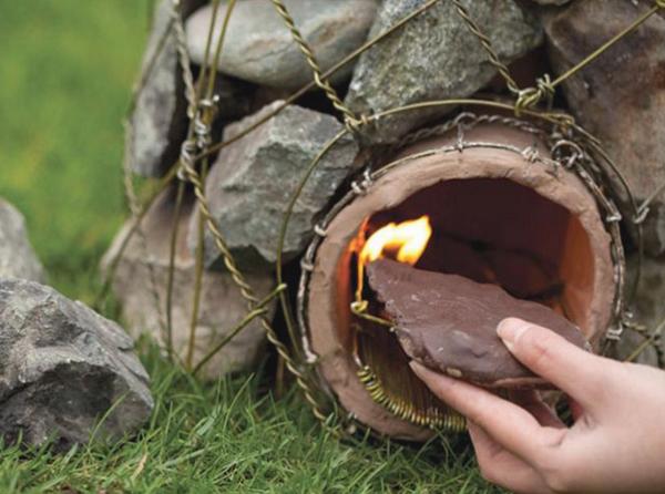 ایده ساخت منقل آتش کوچک در حیاط؛ یک پروژه تابستانی