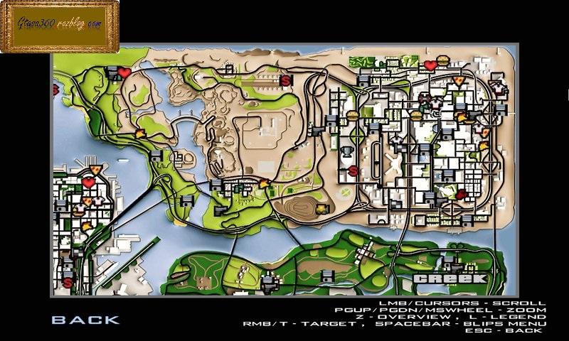 نقشه مپ hd برای gta sa