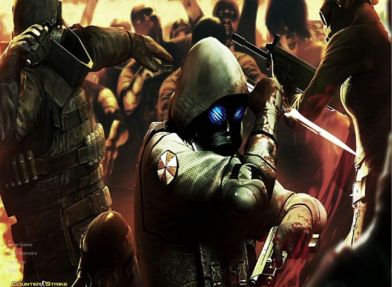 دانلود بک گراند Resident Evil کانتر استریک 1.6