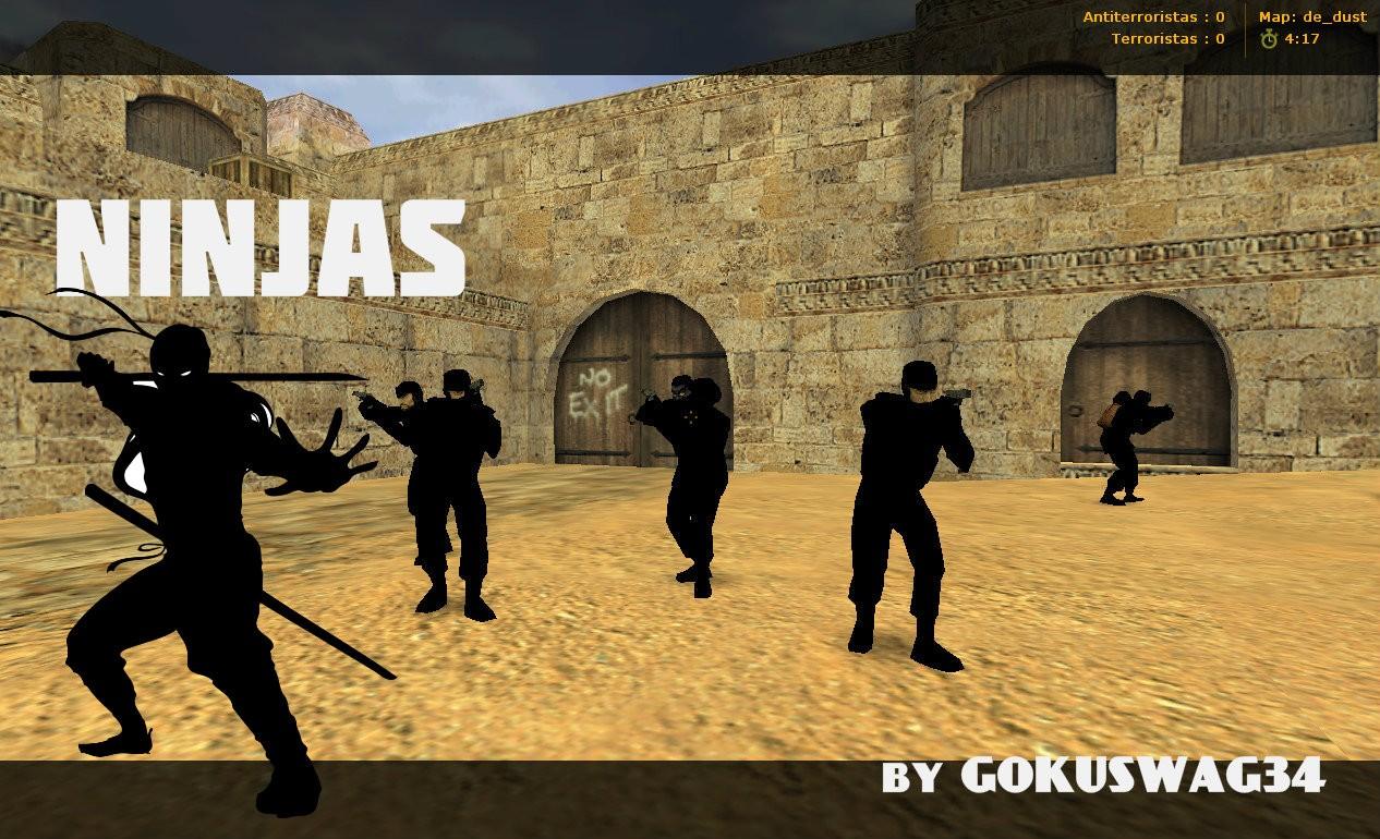 دانلود اسکین پلیر نینجا Ninja Terrorist Pack برای کانتر استریک 1.6