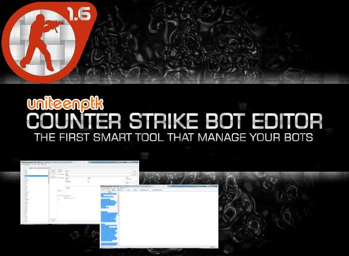 دانلود نرم افزار ادیتور بات های کانتر استریک 1.6 CS1.6 Bot Editor 1.5.1