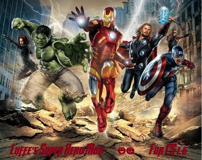 دانلود مد سوپر هیرو Luffe's Superhero Mod برای کانتر استریک 1.6